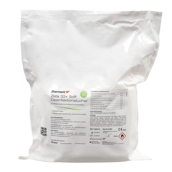 Zhermack Zeta 32+ Soft Desinfektionstücher